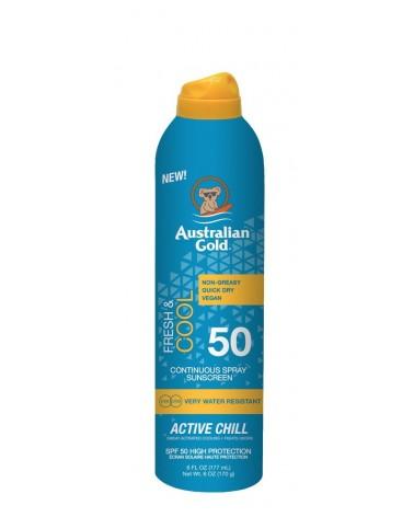 Australian Gold Fresh & Cool Spray Active Chill Sunscreen SPF50 177ml
