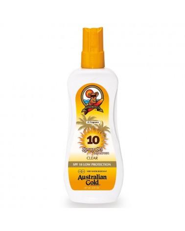 Australian Gold CLEAR Spray Gel Sunscreen SPF10 237ml