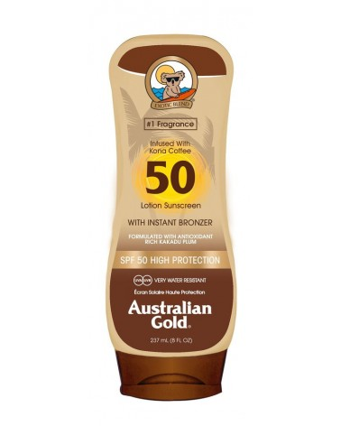 Australian Gold BRONZER Lotion Sunscreen SPF50 237ml